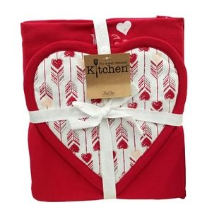 🆕❤Kay Dee Designs Valentine's Kitchen Linen Set